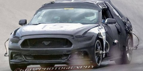2015 Ford Mustang shows its face