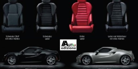 Alfa Romeo 4C brochure specs leaked
