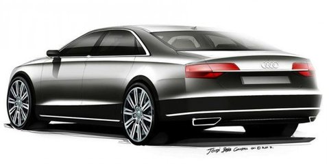 Audi A8 facelift teased in official sketches