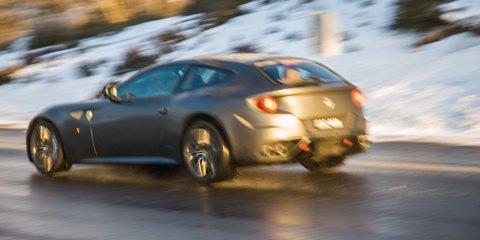 Ferrari FF versus Aussie snow: video