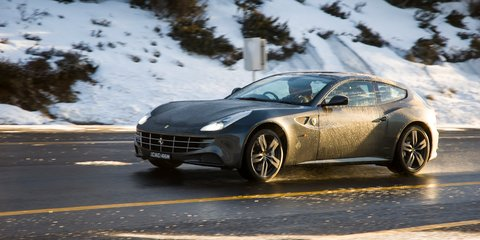 Ferrari FF versus Aussie snow: video