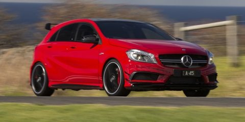 mercedes benz a45 amg review photos caradvice. Black Bedroom Furniture Sets. Home Design Ideas