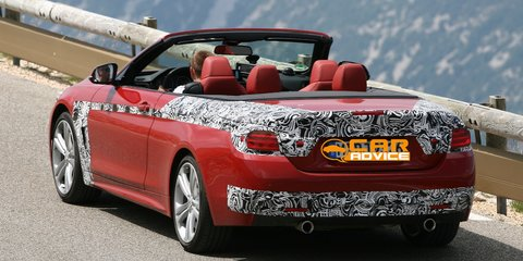 BMW 4 Series Convertible spied with its roof down