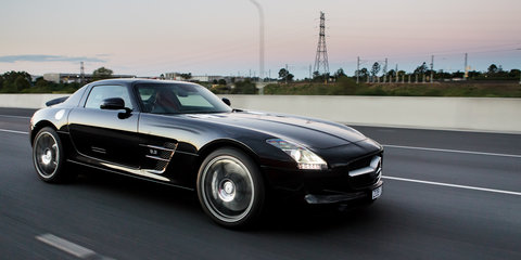 Mercedes-Benz SLS AMG interstate supercar drive: video