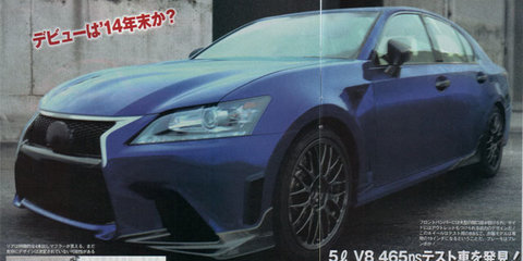 Lexus GS F: new super sedan prototype spied