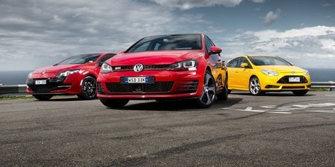 Hot hatch comparison: Volkswagen Golf GTI v Ford Focus ST v Renault Sport Megane 265