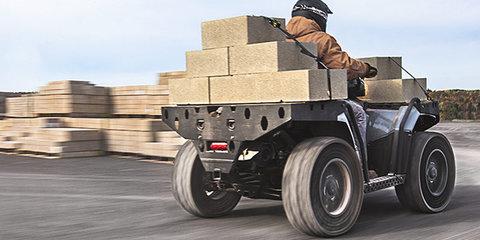 Polaris military-grade ATV features 'Terrain Armour' airless tyres