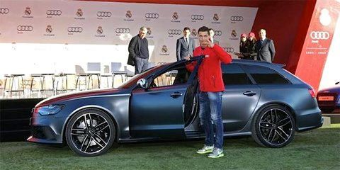 Audi supplies cars to Real Madrid; Cristiano Ronaldo grabs RS6 Avant