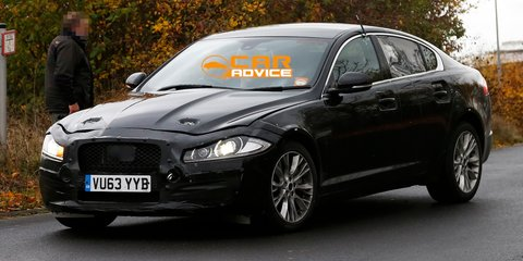 Jaguar XF: next-gen test mule spied