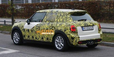 Mini Cooper five-door: stretched hatchback spied