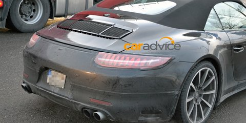 Porsche 911 facelift : Turbo, Coupe, Cabriolet spied; new turbo engine rumoured