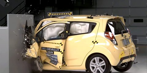 Holden Barina Spark : US twin tops city cars in IIHS crash test