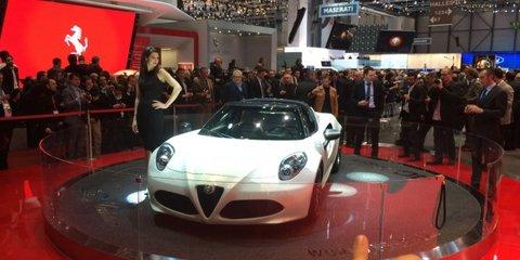 Alfa Romeo 4C Spider unveiled