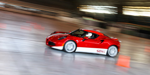 Alfa Romeo 4C gallery : sideways at Avalon airport