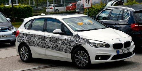 BMW 2 Series Active Tourer plug-in hybrid caught testing