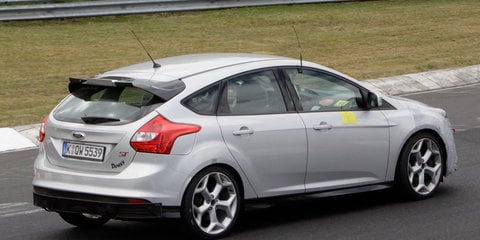 2016 Ford Focus RS snapped at the Nurburgring