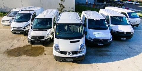 Van comparison : Toyota HiAce v Hyundai iLoad v Ford Transit Custom v Renault Trafic v Fiat Scudo v Mercedes-Benz Vito v Volkswagen Transporter