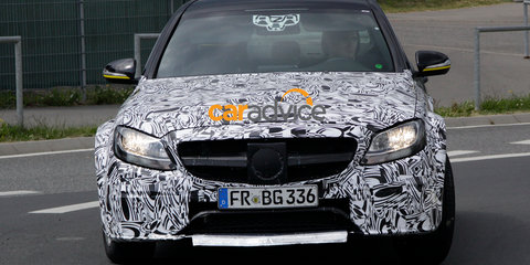 2016 Mercedes-Benz E-Class test mule caught in action