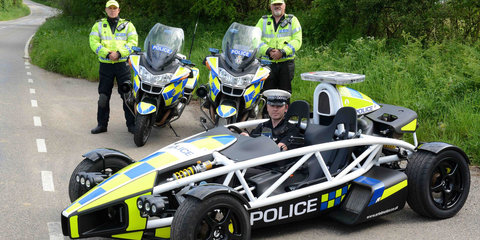 Ariel Atom police special created to promote motorcycle safety