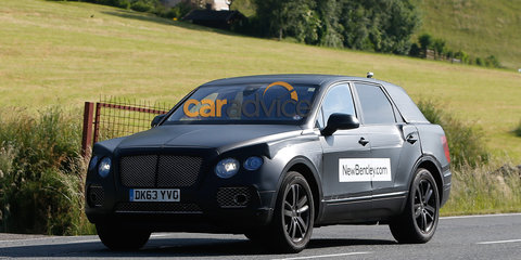 2016 Bentley SUV captured testing in its production body