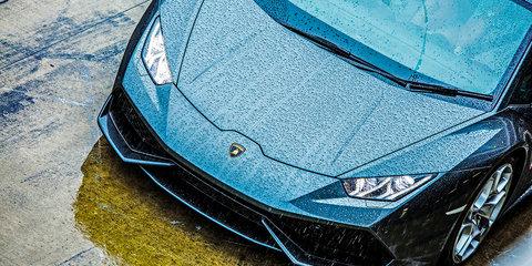 Lamborghini Huracan Wet Launch - Fuji Speedway Japan