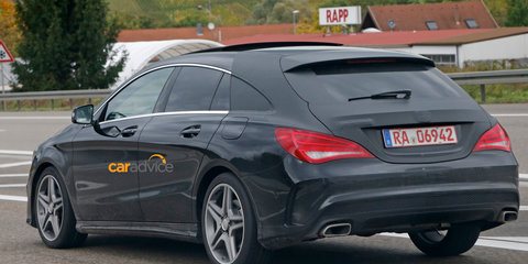 2015 Mercedes-Benz CLA Shooting Brake spied and rendered