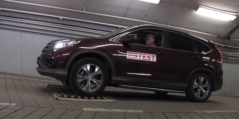 AWD Honda CR-V acts like a FWD car during low grip test