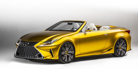 Lexus LF-C2 concept emerges, previews RC convertible