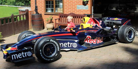 Mark Webber's early-2007 Red Bull F1 car available for sale