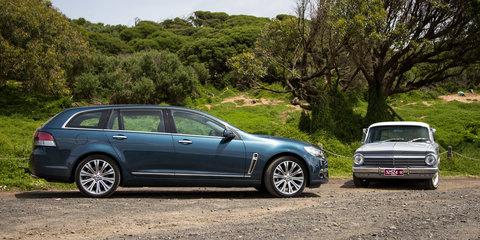 50 Years of Holden Wagon::Calais V Sportwagon v EH Holden Special Station Sedan