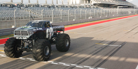Raminator monster truck sets world record speed of 159km/h