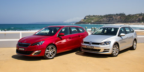 Peugeot 308 Touring v Volkswagen Golf Wagon : Comparison review