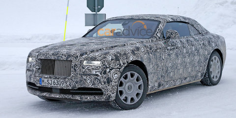 Rolls-Royce Wraith Drophead convertible spied testing in the snow