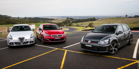 Volkswagen Golf GTI v Peugeot 308 GT v Alfa Romeo Giulietta QV : Five-door hot-hatch comparison