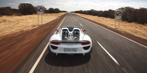 Porsche 918 Spyder hits 350km/h on Northern Territory Highway