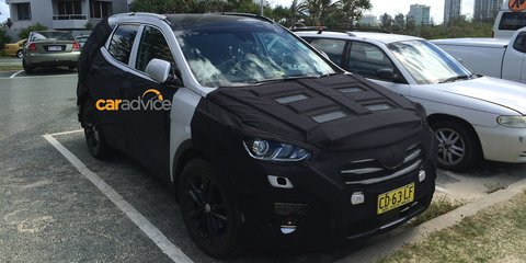 2016 Hyundai Santa Fe spied in Australia