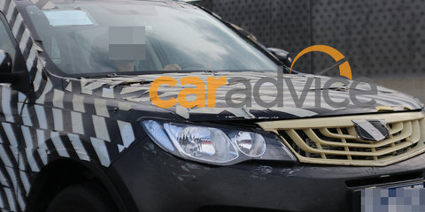 Geely Emgrand NL-3 compact SUV spied testing in Australia