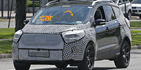 Ford Kuga facelift spied with Edge-inspired grille