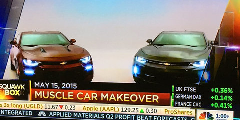 Chevrolet Camaro leaked completely undisguised on cable TV show