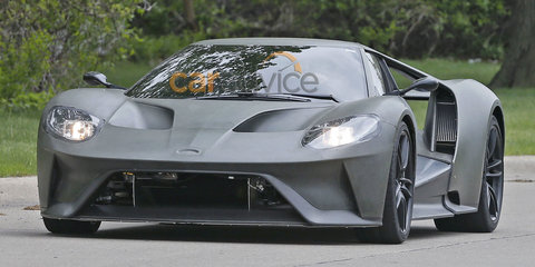 Ford Gt Development Vehicle Spied On The Road