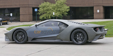 2016 Ford GT development vehicle spied on the road