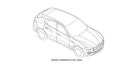 Maserati Levante design revealed via patent drawings