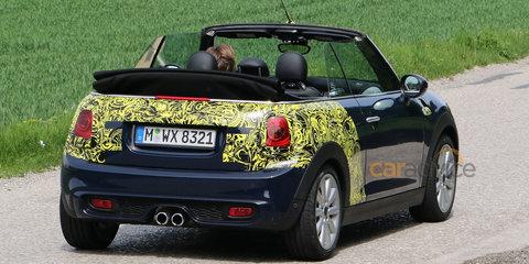 2016 Mini Cooper S Cabrio spied with top down