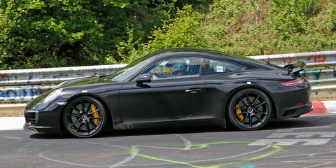 2016 Porsche 911 facelift spy photos from the Nurburgring