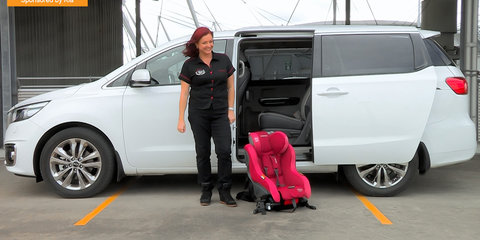2015 Kia Carnival Mums vs Dads Challenge : Child Seats
