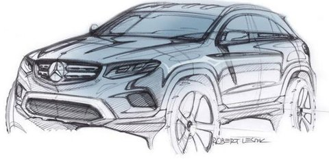 Mercedes-Benz GLC sketch released ahead of SUV's world premiere on June 17