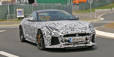 Jaguar F-Type SVR coupe spy photos