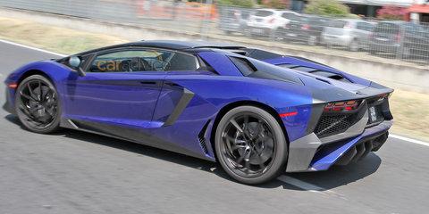 Lamborghini Aventador SV roadster spied almost undisguised