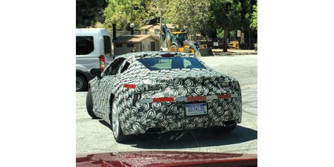 Large Lexus coupe photographed testing in California
