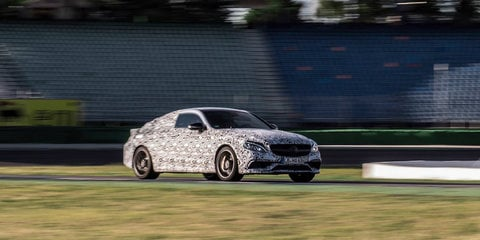 2016 Mercedes-AMG C63 coupe teased on race track